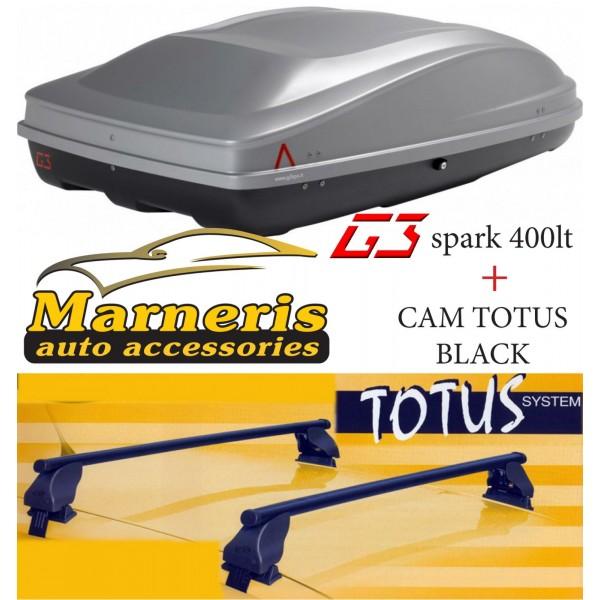ΠΑΚΕΤΟ 3 / ΜΠΑΓΚΑΖΙΕΡΑ G3 SPARK 400lt + ΜΠΑΡΕΣ ΟΡΟΦΗΣ CAM TOTUS